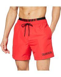 Calvin Klein Medium Double WB Pantaloncini - Rosso