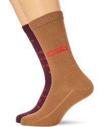 Levi's Logo All-over Print Regular Cut Socks - Multicolore