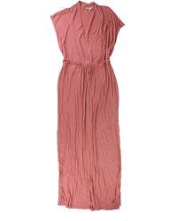 Lucky Brand Rib Maxi Dress - Pink