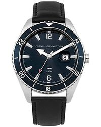 French Connection S Analogue Classic Quartz Watch With Nylon Strap Fc1308bb - Black