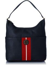 Tommy Hilfiger S Waverly Hobo Shoulder Bag Bw56923200 Midnight - Blue