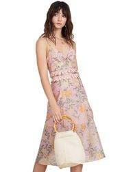 Finders Keepers Meadows Midi Dress - Pink