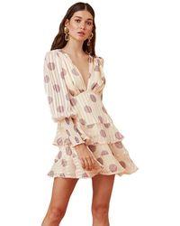 Keepsake Oblivion Long Sleeve Mini Dress - Natural