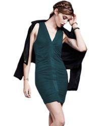 Heather by Bordeaux - Descending Pleat Dress - Lyst