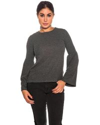 Michael Stars - Bell Sleeve Jumper In Charcoal - Lyst