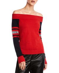Bailey 44 Derrah Off The Shoulder Sweater - Red