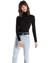 n:PHILANTHROPY Brooke Turtleneck Bodysuit - Black