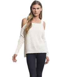 Feel The Piece - By Terre Jacobs Bonnie Cold Shoulder Top In Natural - Lyst