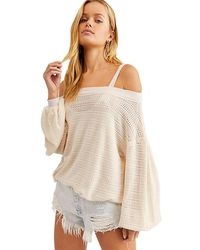 Free People We The Free We The Free Sistine Hacci Top In Pearl - Multicolor