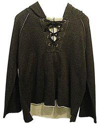 525 America - Lace Up Hoodie In Black - Lyst
