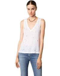 Feel The Piece By Terre Jacobs Alix Perforated Top In White