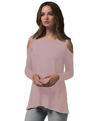 Sen Collection - Saska Cut Out Top In Old Rose - Lyst