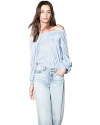 Mcguire - Navarte Off-the-shoulder Top In Gia Stripe - Lyst