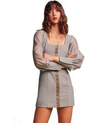 Finders Keepers - Advance Long Sleeve Mini Dress In Sage - Lyst