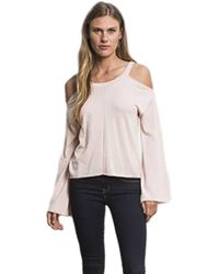Feel The Piece - By Terre Jacobs Vine Cold Shoulder Top In Rose - Lyst