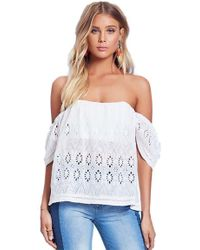 Lovers + Friends | Lovers + Friends Life's A Beach Top In Ivory | Lyst