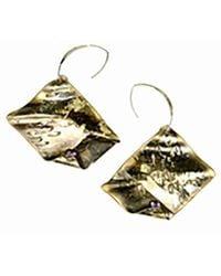 Sibilla G Jewelry - Sibilla G Oxidized Brass & Amethyst Earrings - Lyst