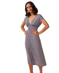 Finders Keepers Catalina Midi Dress - Blue