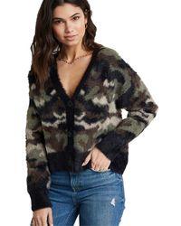 Bella Dahl Fuzzy Sweater Cardigan - Multicolor