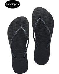 Havaianas Slim Slippers Black - Zwart