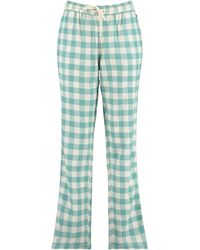 America Today Pyjamabroek Ruitprint - Groen