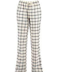 America Today Pyjamabroek Ruitprint - Zwart