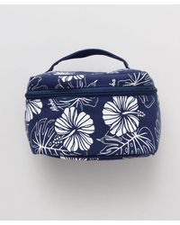 Kahiko Hibiscus & Monstera Cosmetic Pouch - Blue