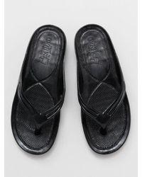 Kahiko Aloha Flip Flops - Black