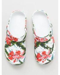 Kahiko Botanical Pattern Eva Clogs - White