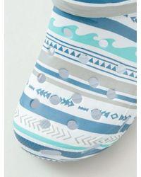 Kahiko Sea Stripe Pattern Eva Clogs - Blue