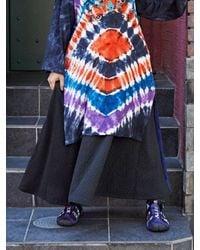 yul Velour Patchwork Maxi Skirt - Black