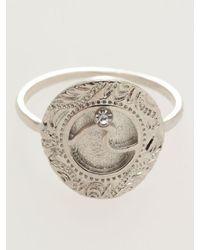 Kahiko Wave Coin Ring - Metallic
