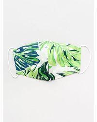 Kahiko Hawaiian Pattern Face Mask - Green
