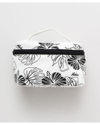 Kahiko Hibiscus & Monstera Cosmetic Pouch - White