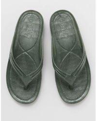 Kahiko Aloha Flip Flops - Green