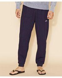Kahiko Textured Cut Sew Men's Pants - Blue