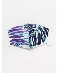 Kahiko Hawaiian Pattern Face Mask - Blue