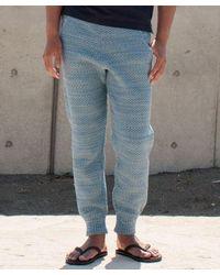 Kahiko Cable Knit Men's Pants - Blue