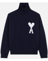 AMI Ami De Coeur Oversize Sweater - Blue