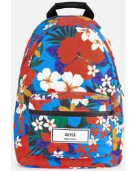 AMI - Zipped Backpack - Lyst