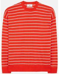 AMI - Crewneck Striped Sweater - Lyst