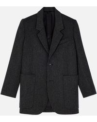 AMI Two Buttons Long Jacket - Gray