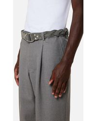 AMI Large Braided Belt - Gray