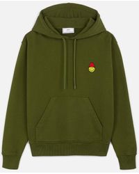 AMI Hoodie With Patch Smiley - Green