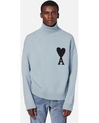 AMI De Coeur Oversize Sweater - White