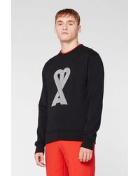 AMI Linear De Coeur Sweatshirt - Black