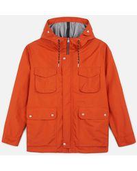 AMI Patch Bonded Parka Jacket - Orange