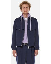 AMI Patch Pockets Zipped Jacket - Blue