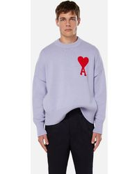 AMI Oversize Ami De Coeur Sweater - Purple