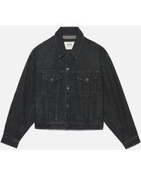 AMI Buttoned Boxy Fit Denim Jacket - Black